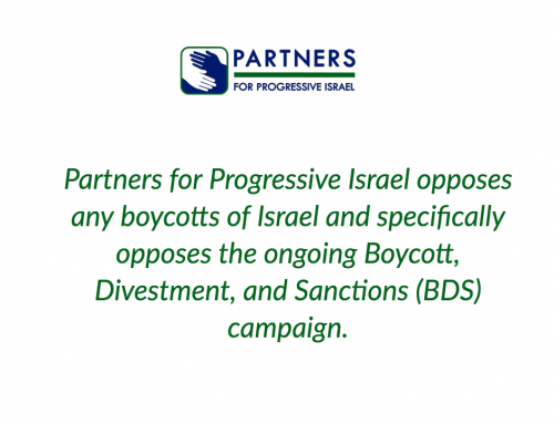 Partners' Statement on BDS