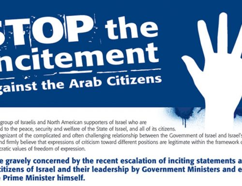 Stop the Incitement Against the Arab Citizens